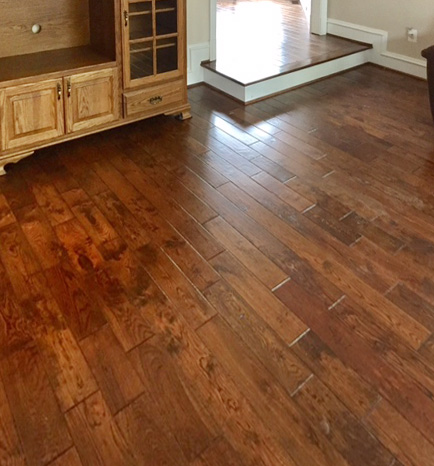 Install Pre-finished Oak wood 5-inch flooring